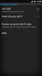 Sony Xpéria S - Internet et connexion - Utiliser le mode modem par USB - Étape 9