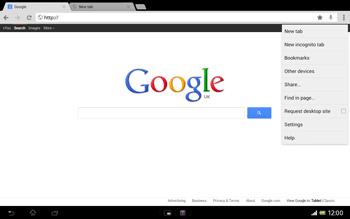 Sony SGP321 Xperia Tablet Z LTE - Internet - Internet browsing - Step 9