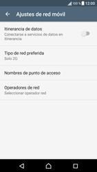 Sony Xperia X - Red - Seleccionar el tipo de red - Paso 8