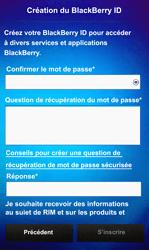 BlackBerry Z10 - Premiers pas - Créer un compte - Étape 11