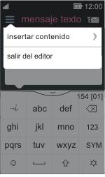 Nokia Asha 311 - Mensajería - Escribir y enviar un mensaje multimedia - Paso 11