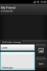 Sony ST23i Xperia Miro - Mms - Sending a picture message - Step 11