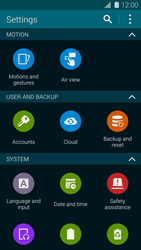 Samsung Galaxy S5 G900F - Device maintenance - Create a backup of your data - Step 4