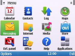 Nokia E5-00 - Mms - Sending a picture message - Step 2