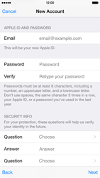 Apple iPhone 6 - Applications - Create an account - Step 13