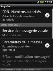 HTC A3333 Wildfire - Messagerie vocale - configuration manuelle - Étape 6