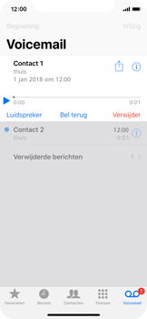 Apple iPhone X - Voicemail - Visual Voicemail - Stap 18