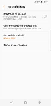 Samsung Galaxy S8 - SMS - Como configurar o centro de mensagens -  8