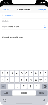 Apple iPhone XS Max - E-mail - envoyer un e-mail - Étape 6