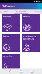 LG X Screen - Applications - MyProximus - Step 19