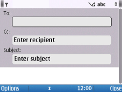 Nokia E5-00 - Email - Sending an email message - Step 6