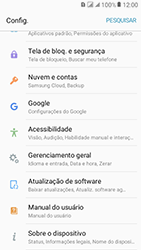 Samsung Galaxy J2 Prime - Primeiros passos - Como encontrar o número de IMEI do seu aparelho - Etapa 4