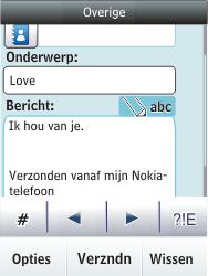 Nokia Asha 300 - E-mail - hoe te versturen - Stap 12