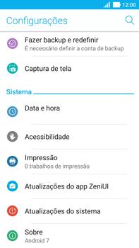 Asus Zenfone 3 - Funções básicas - Como atualizar o software do seu aparelho - Etapa 4