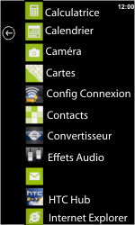 HTC 7 Trophy - E-mail - envoyer un e-mail - Étape 2