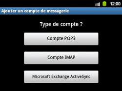 Samsung B5510 Galaxy TXT - E-mail - Configuration manuelle - Étape 6
