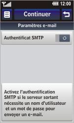 LG GC900 Viewty Smart - E-mail - Configuration manuelle - Étape 14