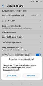 Huawei P Smart - Segurança - Como ativar o código de bloqueio do ecrã -  12