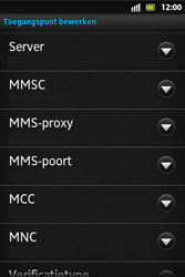 Sony ST27i Xperia Go - MMS - handmatig instellen - Stap 11