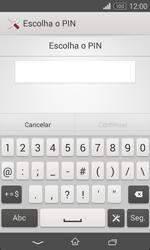 Sony Xperia E1 - Segurança - Como ativar o código de bloqueio do ecrã -  7