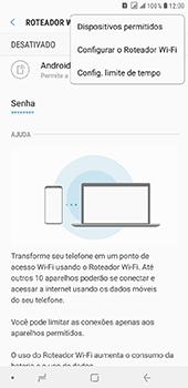 Samsung Galaxy J8 - Wi-Fi - Como usar seu aparelho como um roteador de rede wi-fi - Etapa 8