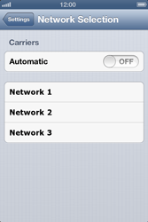 Apple iPhone 4 S iOS 6 - Network - Usage across the border - Step 5