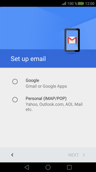 Huawei Mate S - E-mail - Manual configuration (gmail) - Step 7