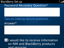 BlackBerry 9720 Bold - BlackBerry activation - BlackBerry ID activation - Step 11