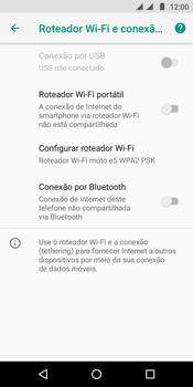 Motorola Moto E5 - Wi-Fi - Como usar seu aparelho como um roteador de rede wi-fi - Etapa 6