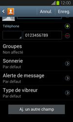 Samsung Galaxy S2 - Contact, Appels, SMS/MMS - Ajouter un contact - Étape 10