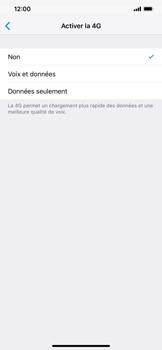 Apple iPhone XS Max - Internet et connexion - Activer la 4G - Étape 6