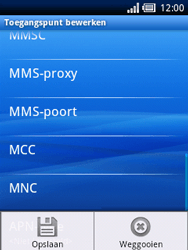 Sony Ericsson Xperia X10 Mini - Mms - Handmatig instellen - Stap 11