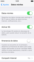 Apple iPhone 5s - Internet - Activar o desactivar la conexión de datos - Paso 4