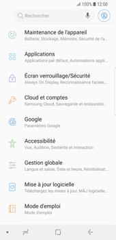 Samsung Galaxy S9 - Appareil - Réinitialisation de la configuration d