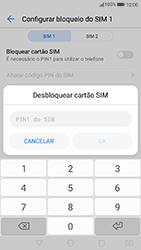 Huawei P8 Lite (2017) - Segurança - Como ativar o código PIN do cartão de telemóvel -  7