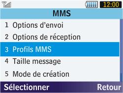 Samsung S3570 Chat 357 - MMS - configuration manuelle - Étape 18