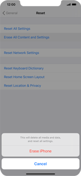 Apple iPhone XS Max - iOS 13 - Device - Factory reset - Step 5