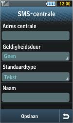 Samsung S8000 Jet - SMS - handmatig instellen - Stap 8