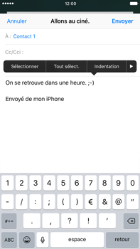 Apple iPhone 6s Plus iOS 10 - E-mail - Envoi d