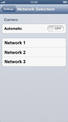 Apple iPhone 5 - Network - Manually select a network - Step 5