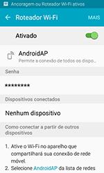 Samsung Galaxy J1 - Wi-Fi - Como usar seu aparelho como um roteador de rede wi-fi - Etapa 13