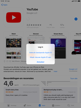 Apple ipad-mini-5-7-9-inch-2019-model-a2124 - Applicaties - Account aanmaken - Stap 8