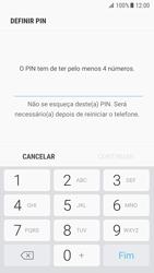 Samsung Galaxy S7 - Android Nougat - Segurança - Como ativar o código de bloqueio do ecrã -  7