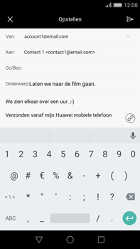 Huawei G8 - E-mail - e-mail versturen - Stap 10