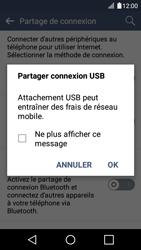 LG K4 - Internet et connexion - Utiliser le mode modem par USB - Étape 7