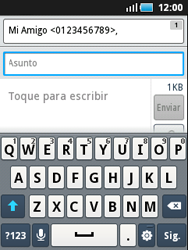 Samsung S5570 Galaxy Mini - Mensajería - Escribir y enviar un mensaje multimedia - Paso 7