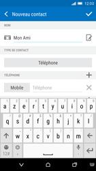 HTC One M9 - Contact, Appels, SMS/MMS - Ajouter un contact - Étape 7