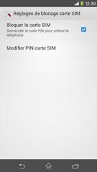 Sony Xpéria M2 - Sécuriser votre mobile - Personnaliser le code PIN de votre carte SIM - Étape 6