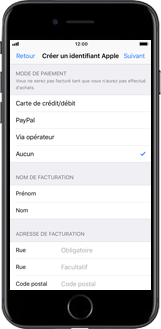 Apple iPhone X - Applications - Créer un compte - Étape 15