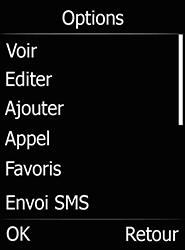 Doro 6520 - Contact, Appels, SMS/MMS - Ajouter un contact - Étape 11
